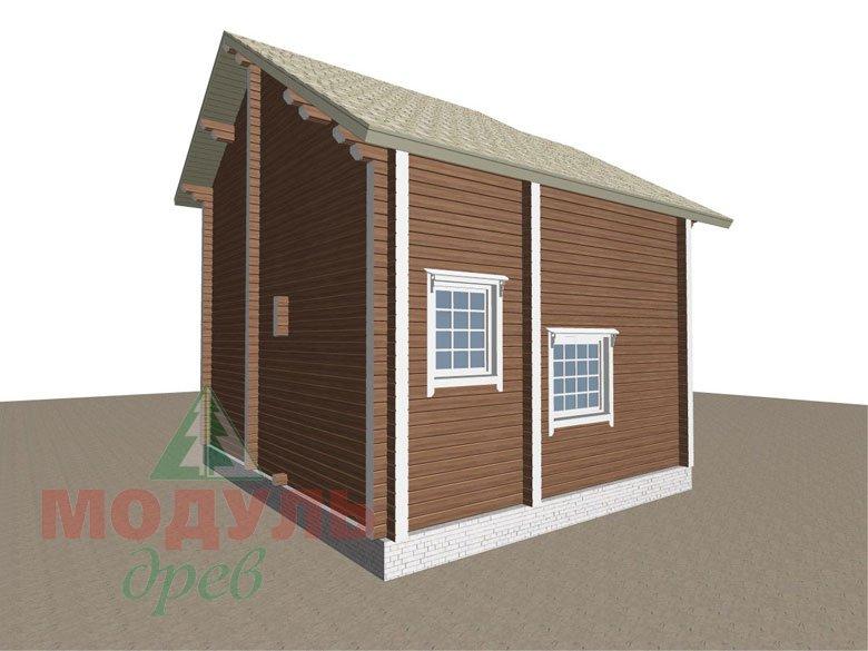 Проект дома из бруса «Жуков» макет 4