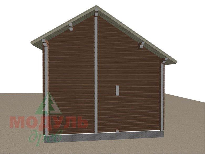 Проект дома из бруса «Жуков» макет 5