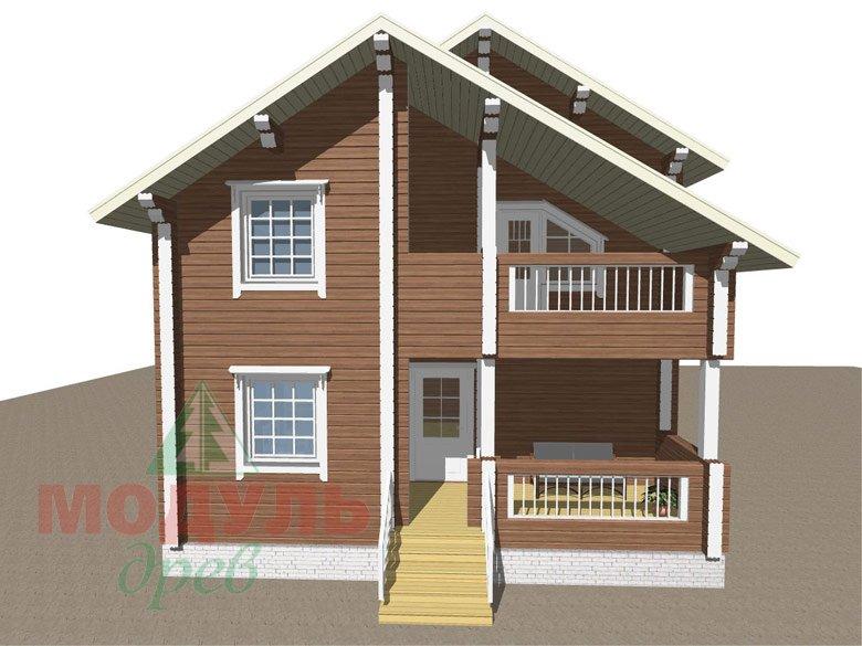 Проект дома из бруса «Жуков» макет 1