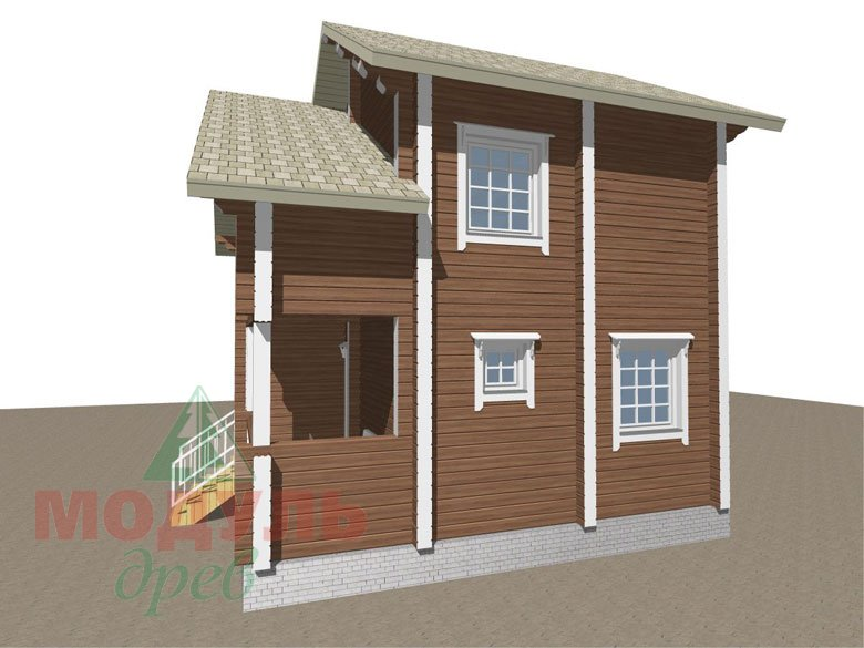 Проект дома из бруса «Жуков» макет 2