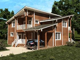 Возведение домов из профилированного или клееного бруса