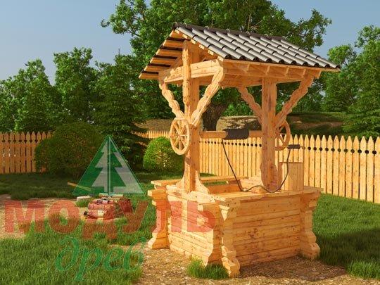 Проект деревянного колодца из бруса