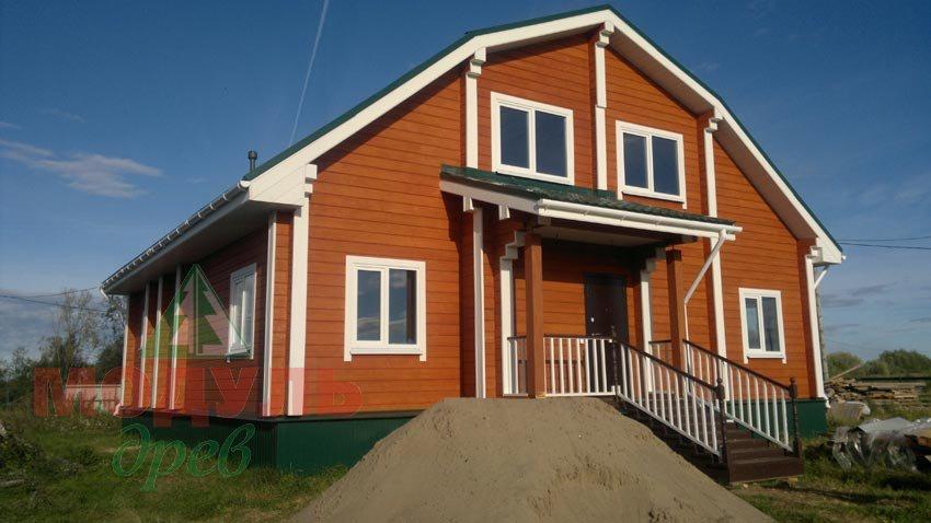 Фото загородного дома из бруса «Ладино»