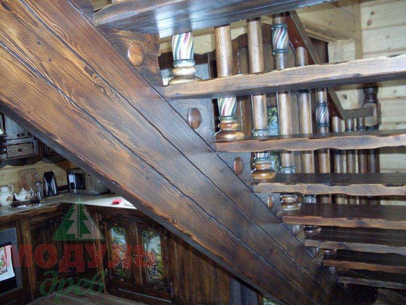 Фото охотничьего домика из клееного бруса