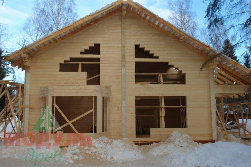 Фото дома из бруса «Скандинавия»