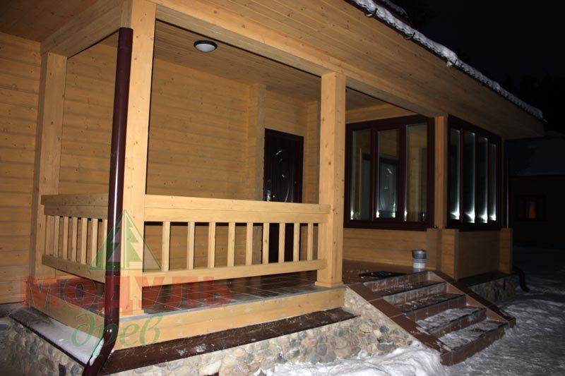 Фото деревянного дома из бруса «Устьяны»