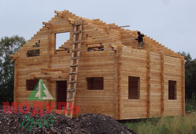 Фото дома из бруса «Уют»